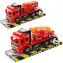 Трейлер JY8801-6 (144шт) инер-й, 18см, пожарн.машина, 2 вида, в слюде, 23-10-7см
