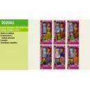 Кукла  2020A1 (120шт/2) с набором платьев, в кор.33*16*4,5 см