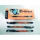 Ручка масл.Hiper Inspire HO-115 0,7мм чорна (1000/10)