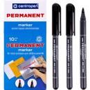 Маркер Centropen 2836 чорний Permanent 1мм (10/100)