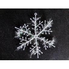 Прикраса Сніжинка 11см біла 12-150 (3шт-уп/10уп)
