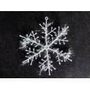 Прикраса Сніжинка 15см біла 12-151 (3шт-уп/10уп)