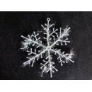 Прикраса Сніжинка 18см біла 12-152 (3шт-уп/10уп)