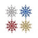 Набор прикраса Сніжинка мікс 4шт 10см  12-154 (10шт)