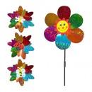 Ветрячок M 0801 (200шт) диам.23см, палочка40см, цветок, 5 видов,