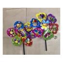 Вітрячок V2103 (240шт) Квітка 5 кольорів 35 см