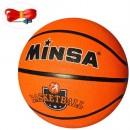 Мяч баскетбольный MS 2505 (30шт) размер 7,резина, 560-580г,12панелей