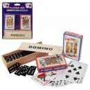 Настільна гра A140 (72шт) доміно(дерев), карти 2шт,18-23-4см