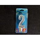 Свічка цифра (срібло) (5шт) 2