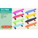 Скейт SC17066 (8шт) металл.крепления,колеса PU 6см, 56см