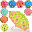Зонтик детский MK 0521 (60шт) клеенка,8видов