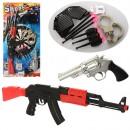 Набор полицейского 810A-6 (96шт) автомат,пистолет,присоски 6,наручники,жетон,на листе,29-57,5-5см