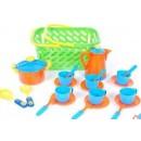 04-437 Посуда в корзинке, кастр.коф. 6чаш.и др. (6шт)