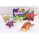 Динозавры 3198-27 (120шт/2),5 видов, в пакете 20см