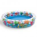 Бассейн 59431 (12шт) круг. детский, 3 кольца, 132-28cм