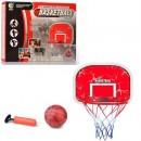 Баскетбольное кольцо MR 0331 (12шт) кольцо щит 47-32см-пластик,сетка,мяч,насос,в кор-ке