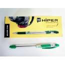 Ручка масл.HO-335 Hiper Max Writer 2,5км 0,7мм зелена (10шт)