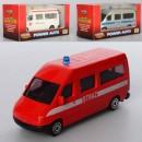 Машинка 311-3AFPW (48шт) металл,9см,3вид(скорая,пожарн,полиция)10,5-5,5-4,5см