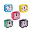 Настільний годинник-будильник 2126/Х2-13  7*7*3 см (200шт)