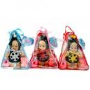 TG Кукла T 0162/212-023 V (48шт) 3 вида, с аксессуарами, в сумке, 19-19-28см