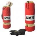 Боксерский набор M 5975-3 (24шт) груша,47см,перчатки2шт, в сетке