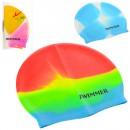 Шапочка для плавания MSW 016 (144шт) 21,5-18,5см, 3 цвета, в кульке, 20,5-13см