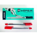 Ручка масл.Hiper Genius HO-120 0,7мм (10/1000) червона
