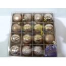 8984 Елочные шарики 6см 16шт/наб (24наб)