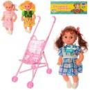 Кукла 82012B (30шт) 31см, звук, коляска 20-33-50см, 4вида, в кульке