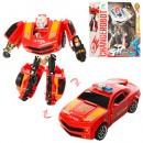 Трансформер 38-90 (72шт) 15см, робот+машинка, 2 вида(полиция,пожарн) 19-20-7см