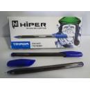 Ручка гелева Hiper TRIADA HG-205 (10шт) синня