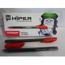 Ручка гель HG-205 Hiper TRIADA червона (10шт)