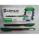 Ручка гель HG-205 Hiper TRIADA зелена (10шт)