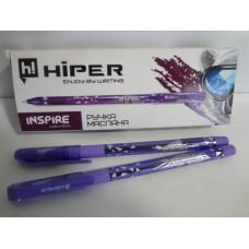 Ручка масл.Hiper Inspire HO-115 0,7мм (10шт/1000) Фіолетова