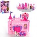 Замок SG-2991 (10шт) принцессы,муз,св,мебель,фигурки(вращ),в кор-ке,39-49-13см