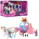 TG Карета 778397/201 (12шт) кукла15см,2лошади,фея,мыши,свет,в кор-ке,48,5-26-19,5см
