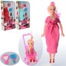 Кукла 6026E (60шт) беременная 29см,дочка10см,коляска,в кор-ке,15-31,5-6см